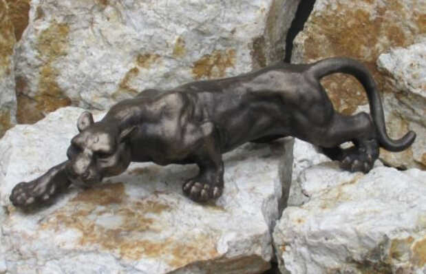cama Me preparé Mal funcionamiento  Envío Gratis figurita Pantera grande gato Tigre Puma leopardo Jaguar  escultura bronce hierro fundido|iron sculpture|de hierro fundidode hierro  libre - AliExpress