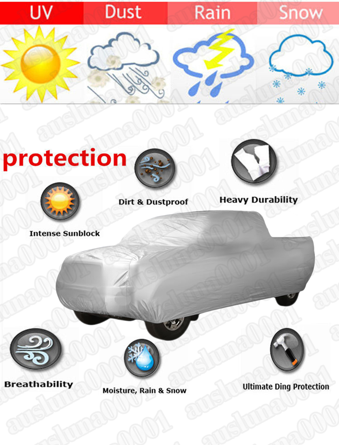 UXCELL imperméable à l'eau Stormproof camion pick-up extérieur intérieur bâche de voiture protecteur 6.5 M - 3