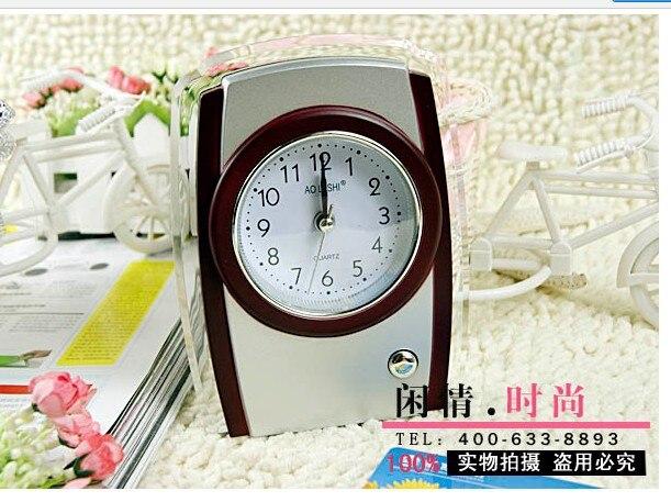 New arrivals! fun retro/vintage alarm clock creative with light clock Home decoration 2PCS/lot retail box
