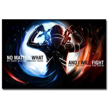 Аниме Плакат гобелен Мастер меча онлайн 2 в ассортименте