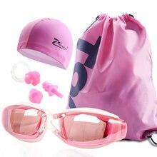 A Set 4pcs Unisex Mens Professional Myopia Swimming Goggles