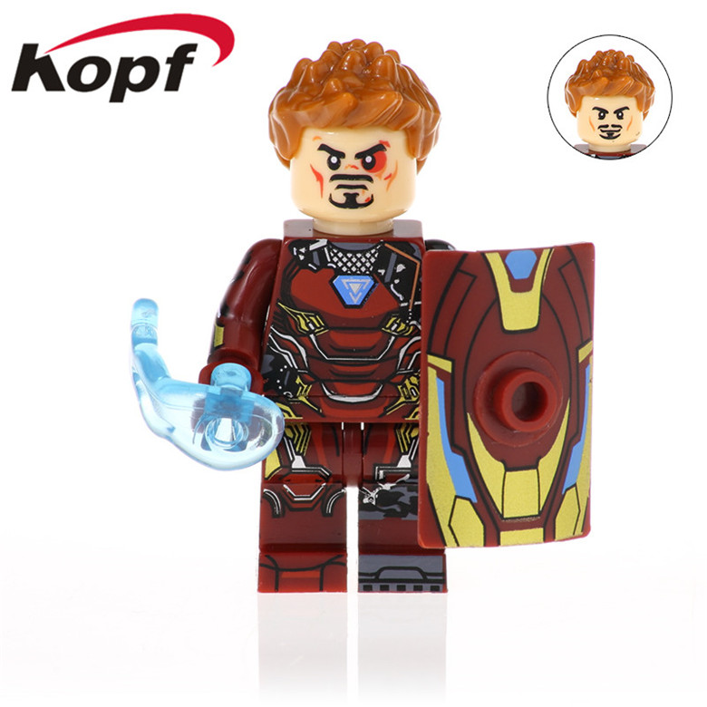 50Pcs Super Heroes Iron Man Series War Machine Figures Bucky Winter Soldier Building Blocks For Children