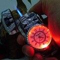 2 en un reloj elektronik fuego llama verde a prueba de viento más ligero con la luz llevada para el cigarrillo al por mayor