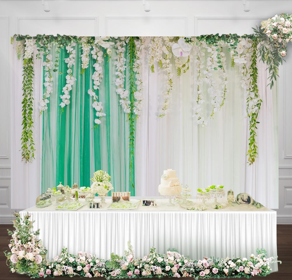 Wedding Dessert Table Backdrop: Wedding Background Curtain Dessert Table Decor Baby Shower