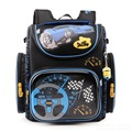 2016 Boys Primary School Bags Dark Blue Cars Aircraft Children's Orthopedic Backpack High Quality Mochila Infantil Bolsas 1-3