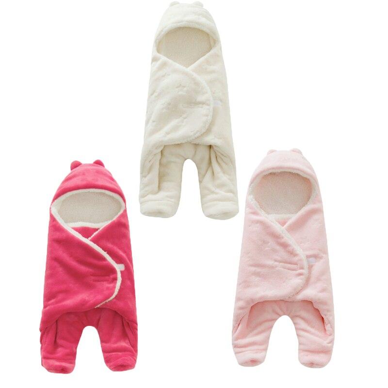 Baby Warm Sleeping Bag Flannel 0-1 Year Newborn Blanket Swaddle Toddler 68*80cm Sleep Clothes Cute Soft 3d Design Sleepsacks