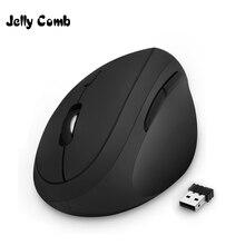 Gelatina Pettine Ergonomico Del Mouse Mano Destra 2.4GHz Senza Fili Del Mouse Verticale per il Computer Portatile Del PC Mouse Ottico 800/1200/ 1600 DPI 6 Bottoni