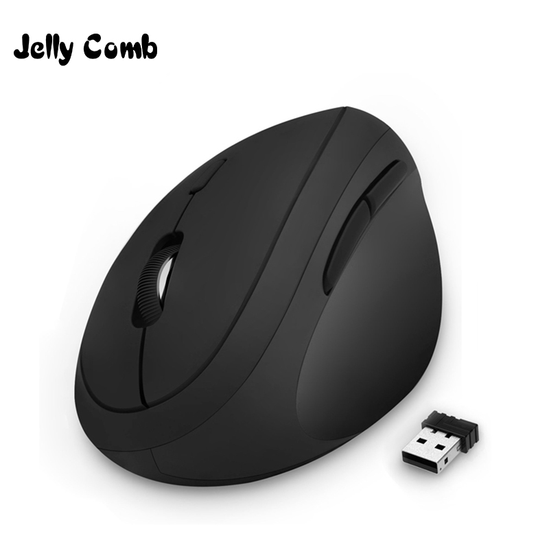 Jelly Comb Ergonomic Mouse Right Hand 2.4GHz Wireless Vertical Mouse For PC Laptop Optical Mice 800/1200/1600 DPI  6 Buttons