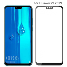 2PCS Full Glue Coverage Screen Protector for Huawei Y9 Glass 2019 Huawey Enjoy 9 Plus