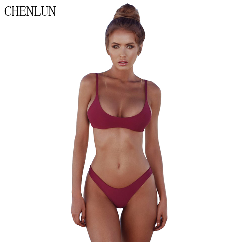 CHENLUN 2018 sexy Bikini Set Summer Solid color Swimwear Brazilian Bikini Women Beach Wear Bathing Suit Popular Female Swimsuit  1