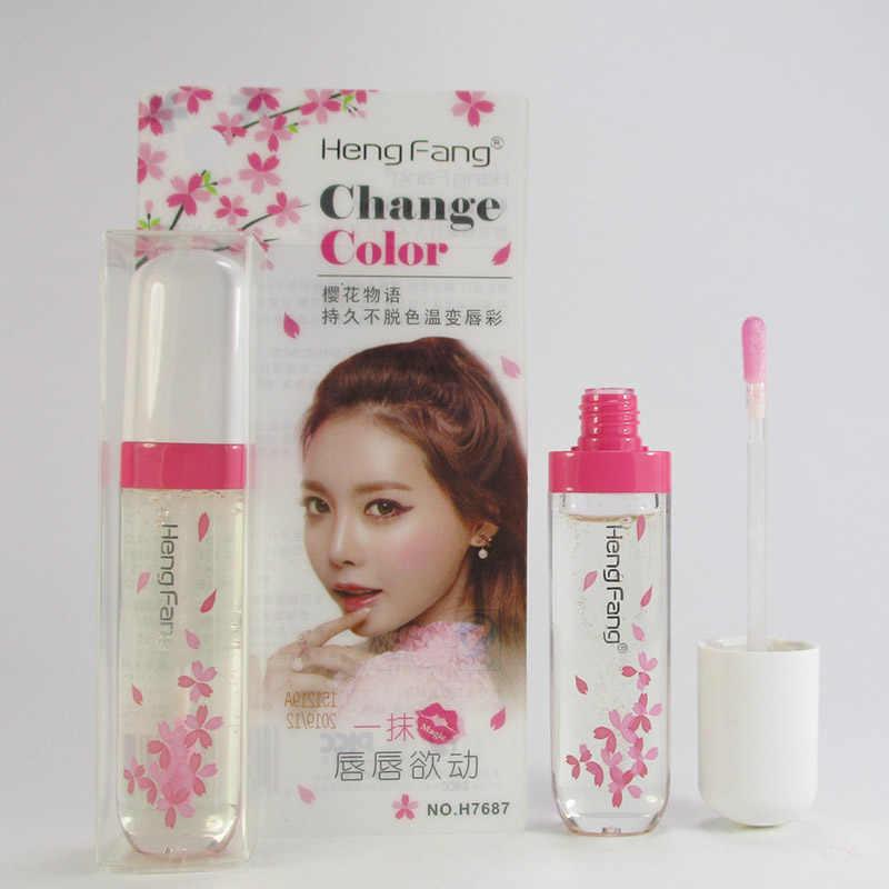 1 Pcs שינוי צבע שפתיים זיגוג עמיד למים לאורך זמן נוזל שפתון ורוד שפתי איפור MSI-19
