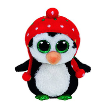 "Pyoopeo Ty Beanie Boos 6"" 16cm Freeze the Penguin Plush Stuffed Animal Collectible Soft Big Eyes Doll Toy"