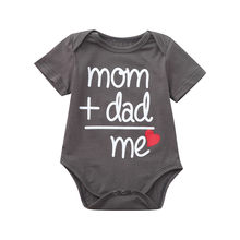 Toddler Newborn Baby Girls Boys Letter Printed Tops baby girl clothes 2019 Romper body suits for baby Clothes my first easter(China)