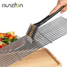 Открытый Пособия по кулинарии столовая база для Churrasco BBQ печь для барбекю гриль провода чистящее средство для чистки Сталь кисти скребок Инструменты Аксессуары