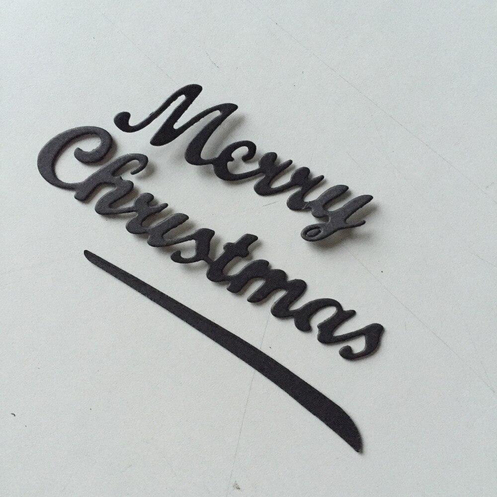 Art Greeting words MERRY CHRISTMAS Scrapbooking cutting die paper ...