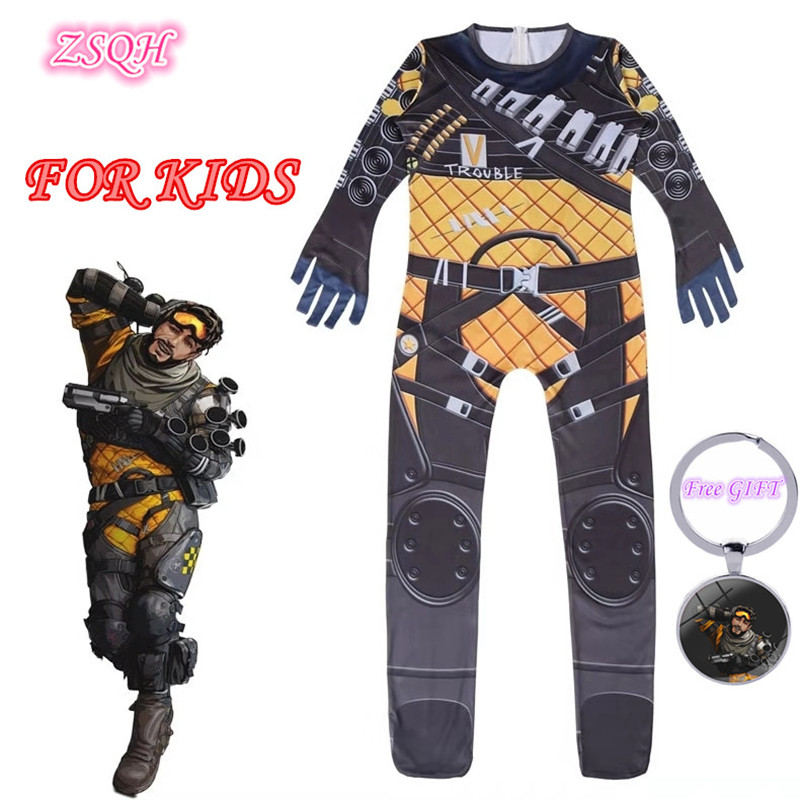 ZSQH Apex Legends Cute Eliot Witt Jumpsuit Cosplay Costume Apex Legends Eliot Witt Children Bodysuit Cosplay For Kids Girls Boy