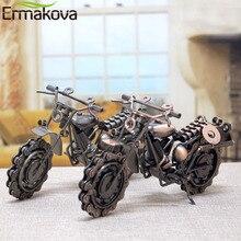 Modelo Retro de motocicleta ERMAKOVA de 21cm, accesorio de motocicleta de hierro, accesorio de motocicleta hecho a mano, regalo para niño, juguete para niños, decoración para el hogar y la Oficina