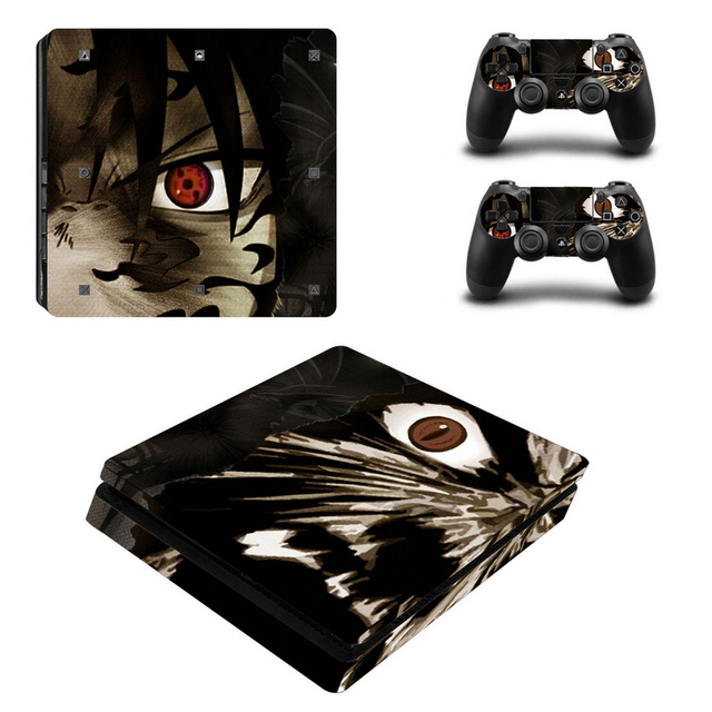 Naruto Vinyl Decal For PS4 Slim Skin Stickers Wrap for Sony PlayStation 4 Slim Console and 2 Controllers Skins  1