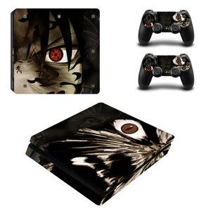 Image 2 - Naruto Vinyl Decal Voor PS4 Slim Skin Stickers Wrap Voor Sony Playstation 4 Slim Console Met 2 Controllers Skins