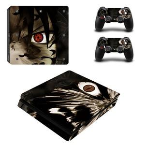 Image 2 - Naruto vinil decalque para ps4 pele fina adesivos envoltório para sony playstation 4 magro console com 2 controladores peles