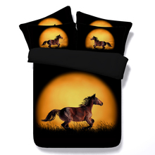 Horse bedding sets 3d sunset bed linens girl boys queen twin full king size duvet quilt cover 3/4 pieces bed spreads 500tc gifts