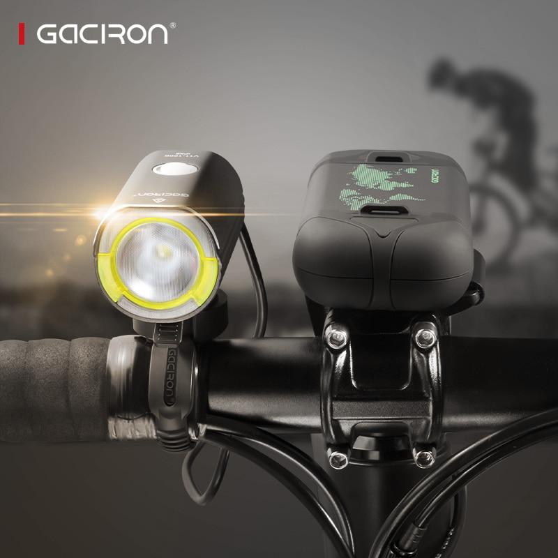 Gaciron V11 Split Type phare de vélo pour la course IPX6 étanche vélo lumière 1000 Lumens accessoires de vélo