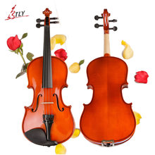 TONGLING Brand Full Size Solid Wood Beginner Violin Handcraft Matt Violino Music Instrument Case Bow String