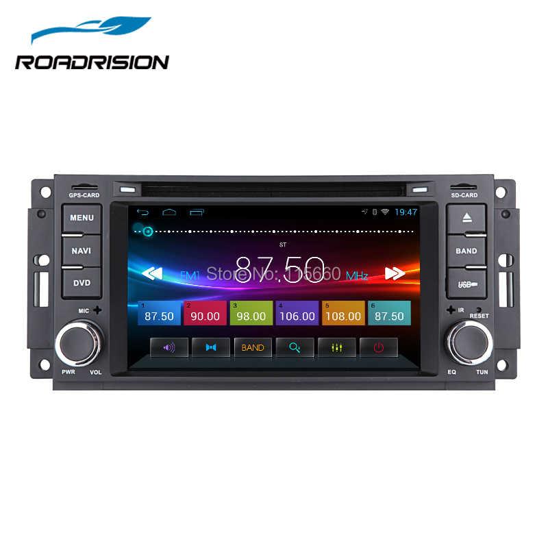 RoadRision アンドロイド 6.0 車の Dvd の Gps 無線航法用ジープチェロキーコンパス司令ラングラー/ダッジキャリバー/クライスラー C300 SWC