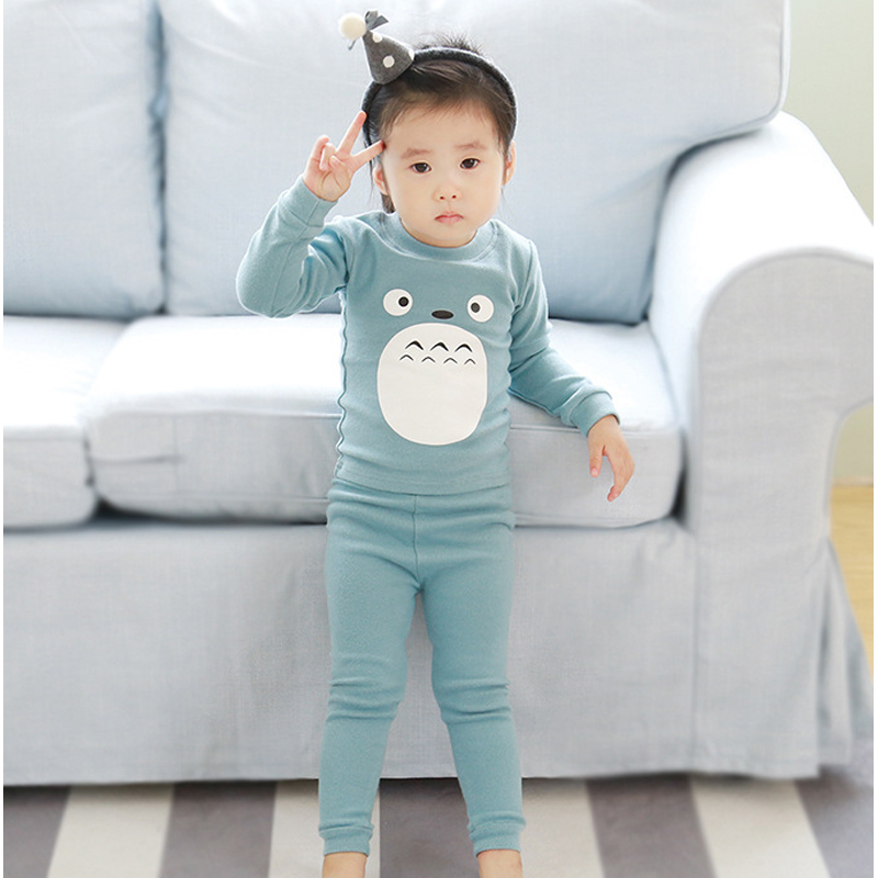 2pcs/set Cotton Spring Autumn Totoro Baby Boy Girl Clothing Sets Clothes Set For Babies Boy Clothes Suit(Shirt+Pants)Infant Set 2pcs set cotton spring autumn baby boy girl clothing sets newborn clothes set for babies boy clothes suit shirt pants infant set