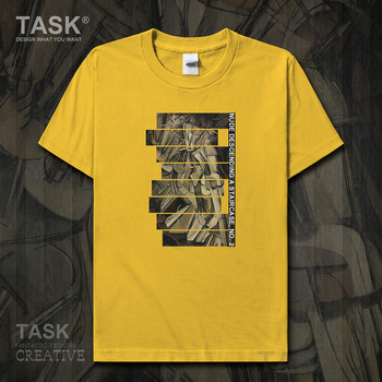 World famous painting series t-shirt Marcel Duchamp New Art Painting Nude Descending a Staircase Short sleeve clothes cotton new image