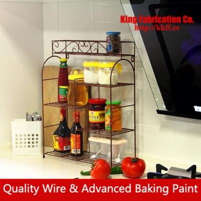European style wrought iron kitchen shelf storage rack wall mounted kitchen font b knife b font