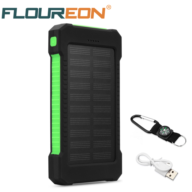 best sneakers db61f 554b2 US $14.43 23% OFF|Aliexpress.com : Buy Floureon 10000mAh Solar Power Bank  with Dual USB LED Flashlight from Reliable bank solar suppliers on Eternal  ...