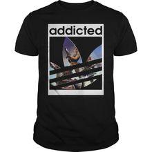 лучшая цена Addicted fort T Shirt Black Tee M L 234XL XXL F084 Free shipping Harajuku Tops t shirt Fashion Classic Unique t-Shirt
