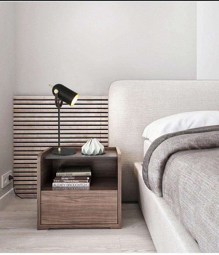 Nordic moderno de couro ferro forjado candeeiro