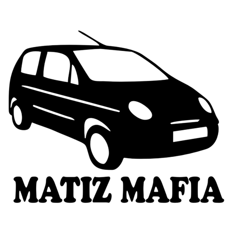 CK2720#17.5*14cm MATIZ MAFIA Funny Car Sticker Vinyl Decal Silver/black Car Auto Stickers For Car Bumper Window Car Decorations