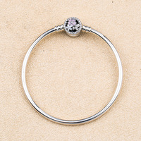 925 Sterling Silver Pan Bangle Poetic Blooms Clasp Snake Chain Bracelet Bangle Fit Women Bead Charm Diy Europe Jewelry