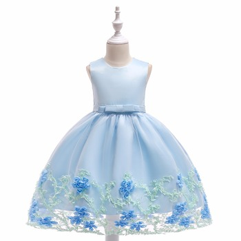 Cute Girls Dress Scoop A-Line Knee Length Pearl Ribbon Sash Organza Flower Girls Dresses Little Girl Party Gowns white cheap flower girls dresses scoop neck girls pageant dresses organza beads kids party gowns 2019