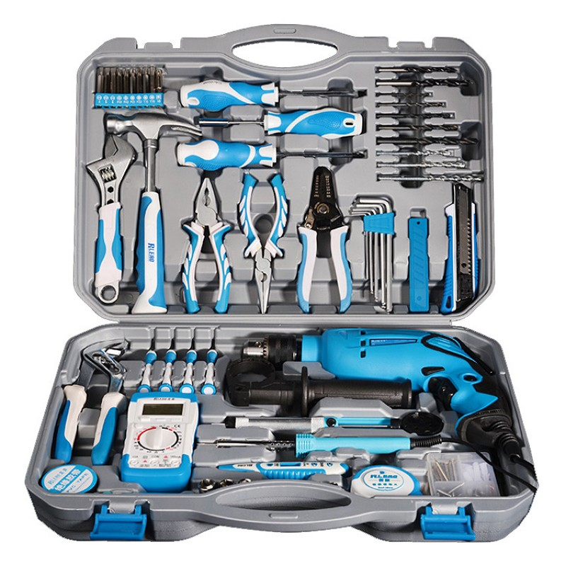 Multifunction Wood Hardware Tool Combination Set Drill Pliers Screwdrivers Wrenches Household Combination Toolbox Set