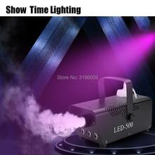 купить Fast delivery 400W fog machine line/remote control smoke machine RGB led disco DJ party make fog home entertain онлайн