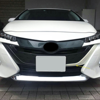 HIGH FLYING Front Middle Grille Cover Frame Decorative Trim ABS 2pcs For Toyota Prius PHV For Prius Plug in Hybrid 2017 2018