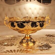 Fashion royal quality luxury fruit plate decoration fruit plate nut tray
