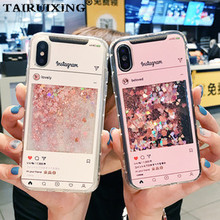 Liquid Case For iPhone SE XS Max XR X 10 5s 6s 7 8 Plus Cartoon Instagram Soft Silicone Cover For Meizu Meilan 3S Note 3 5 5S