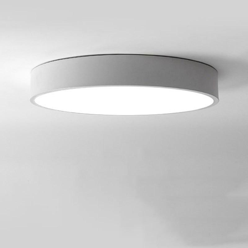 QLTEG Minimalism LED ceiling light Round simple decoration fixtures ...