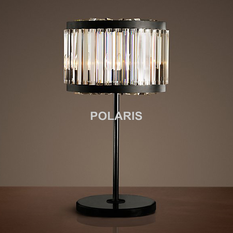 Usine sortie moderne Vintage K9 cristal lampe de Table lampes de bureau pour la maison hôtel lit chambre décor