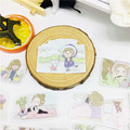 25 Pcs Cute comic girl Sticker for kids toys book phone Luggage Home Decor Fashion Vinyl Decals DIY Stickers scrapbooking