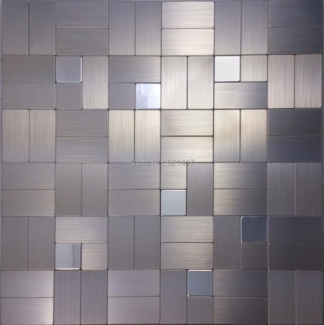 Aluminum plate metal mosaic mirror mosaic tile for kitchen ...