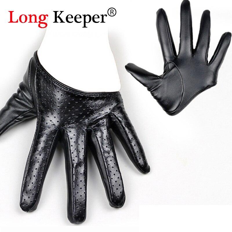 Elegant Women Sexy Gloves Female Half Palm Leather Gloves -1654