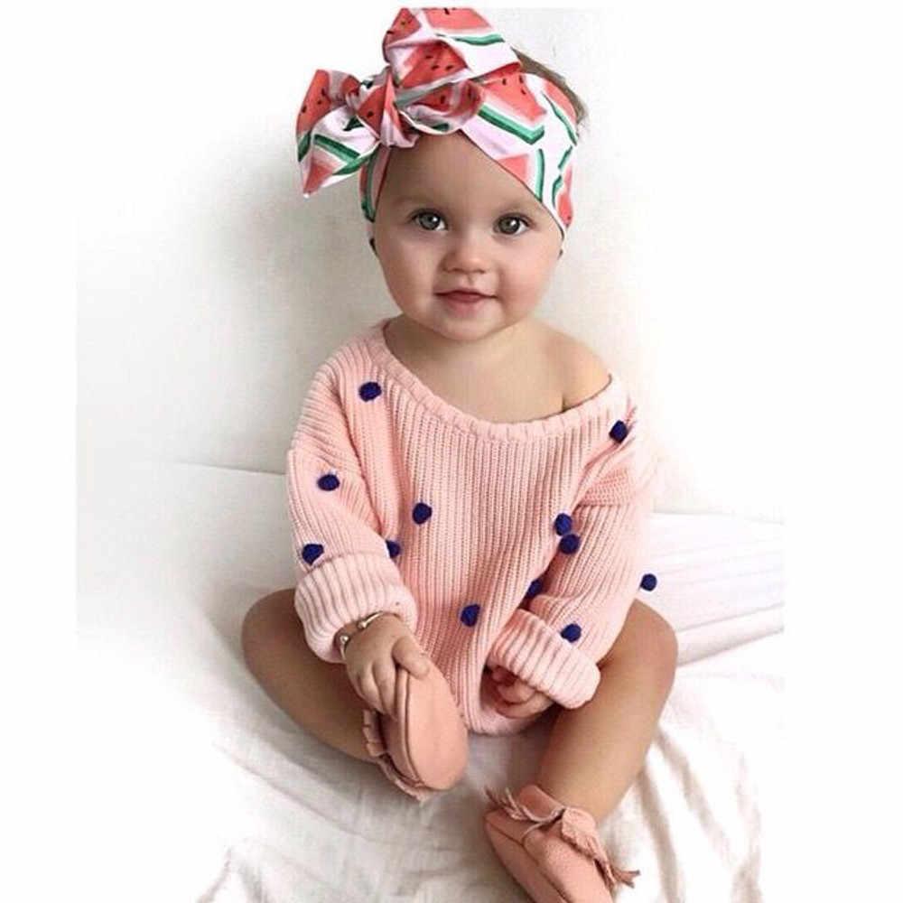 PARRY อุปกรณ์เสริมผมทารกแรกเกิดเด็กหญิงผลไม้เขตร้อนพิมพ์ Headband ทารกแรกเกิดแฟชั่น turban head wrap