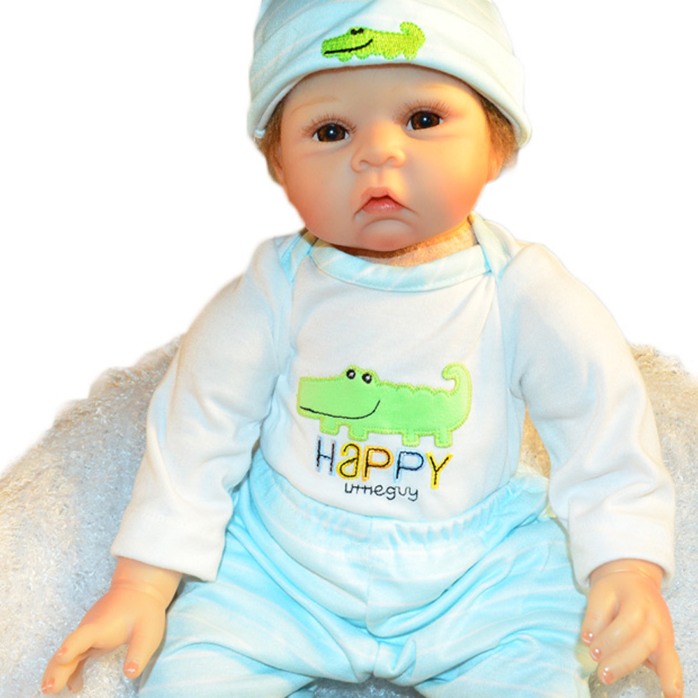 22 inches Lovely Reborn Girl Doll Soft Silicone Cute Newborn Baby with Cloth Body Toy for Kids Birthday Christmas Gift 22 inches realistic reborn girl doll soft silicone cute newborn baby with cloth body toy for kids birthday christmas gift