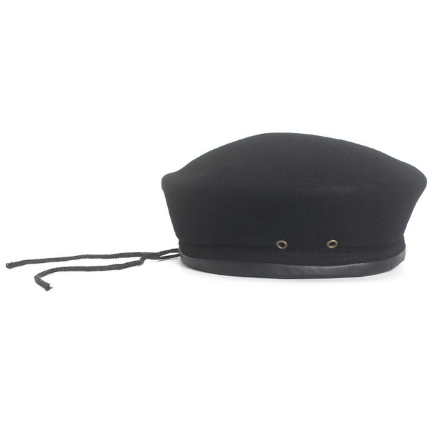 Wool Vintage Warm Wool Women Beret French Artist Beanie Hat Size 5658cm Adjustable Beret